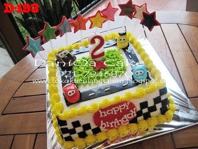 Cars Theme Birthday Cake