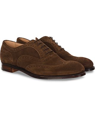 Cheaney Arthur III Brogue Brown Plough Suede
