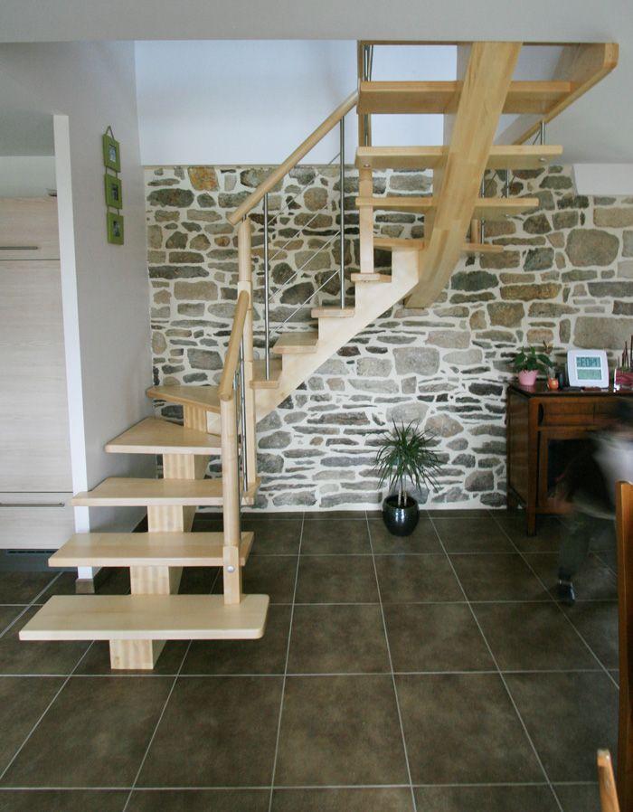 escaliers bois et tendance potier espace escalier pinterest projects staircases and. Black Bedroom Furniture Sets. Home Design Ideas