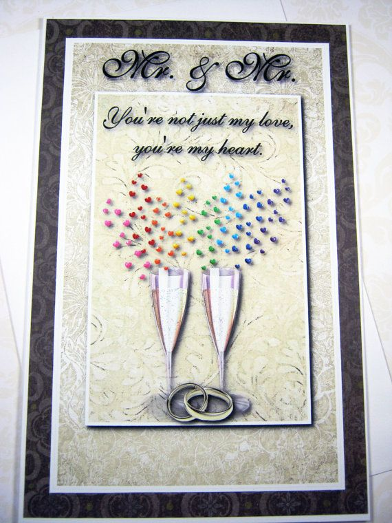 You're not just my love Same sex wedding card Mr. by littledebskis