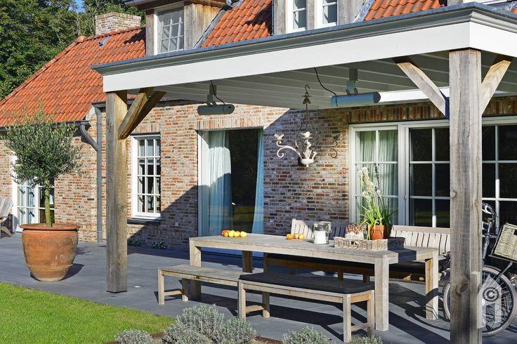 Landelijke én romantische huis. Overdekt terras