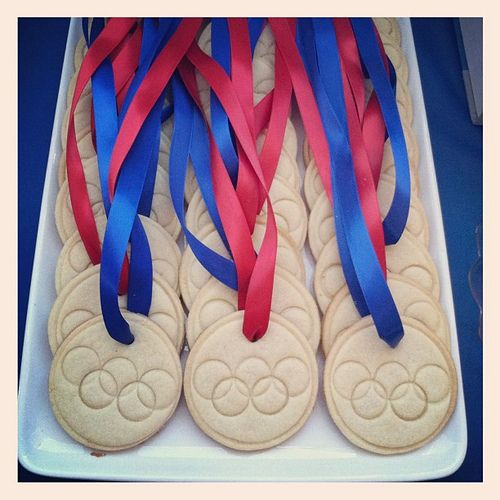 Olympic Medal Cookies -- @Abby Christine Massey !!!!!!