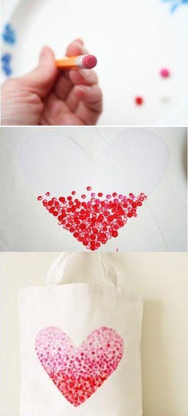 DIY – Painted Heart Bag