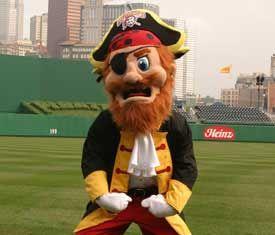 MLB Baseball Mascots: Captain Jolly Roger - Pittsburgh Pirates