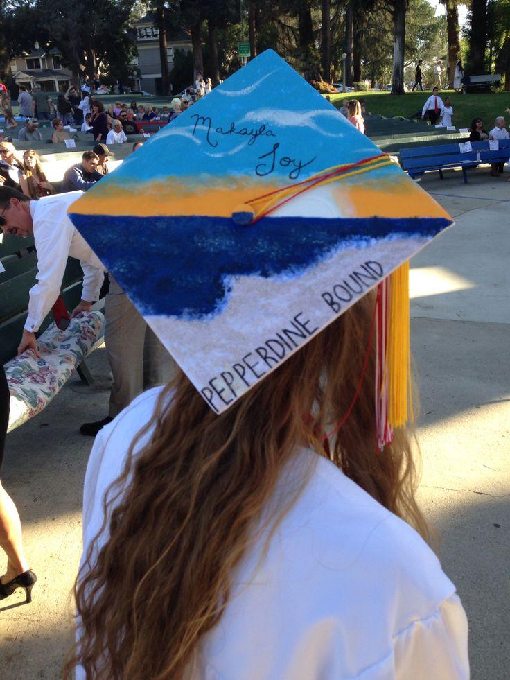 Graduation Cap Pepperdine Bound Malibu Beach Words