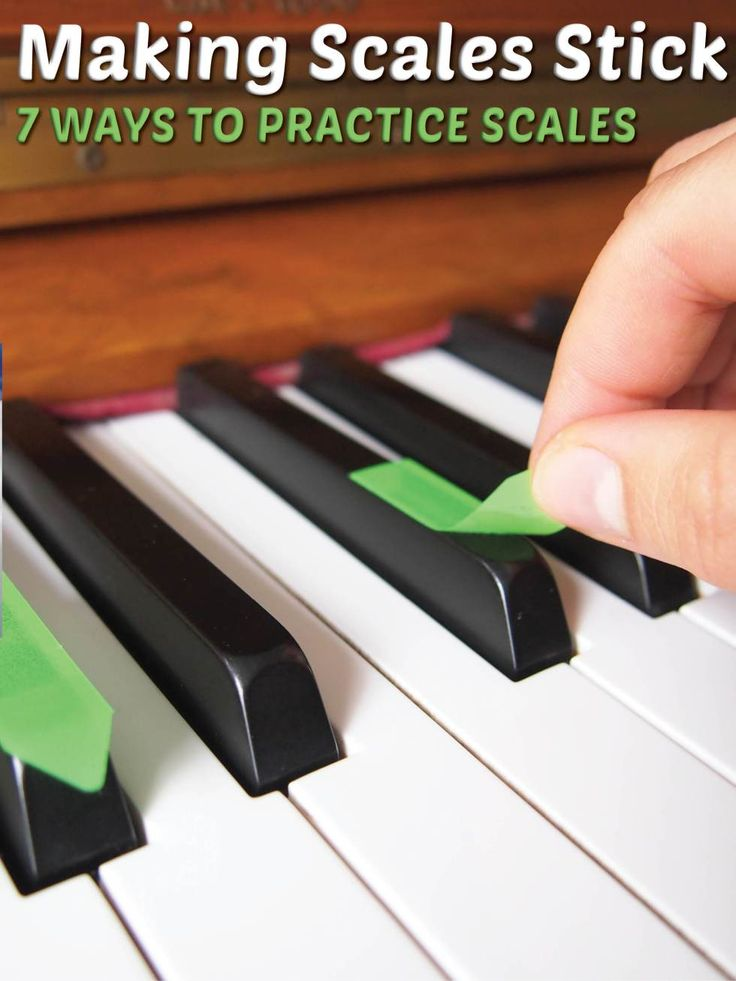 7 ways to practice piano scales. Make scales interesting and learn them more thoroughly too!
