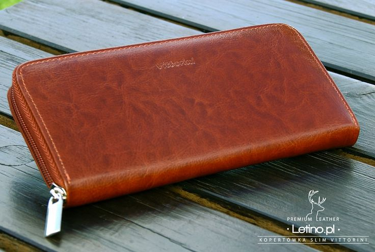 Brązowy portfel - kopertówka - Portfele, sklep z portfelami , portfele skórzane