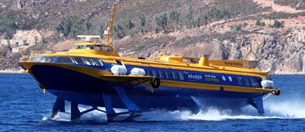 Ferries Piraeus Aegina Agistri(Myli) AegeanFlyingDolphins Argosaronicos islands Schedules.