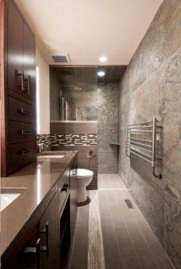 Earthy Beige in a bathroom
