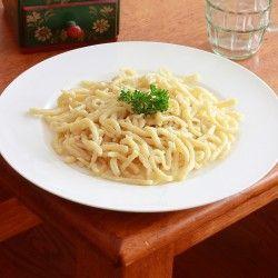 Homemade German Spätzle. Great explanatory photos make this recipe doable.