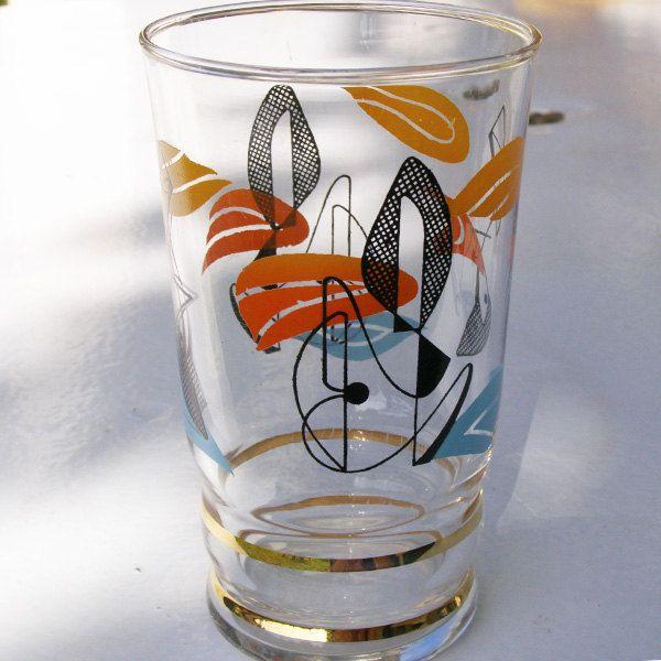 Ensemble de verres cocktail 1950 by BROCORANGE on Etsy