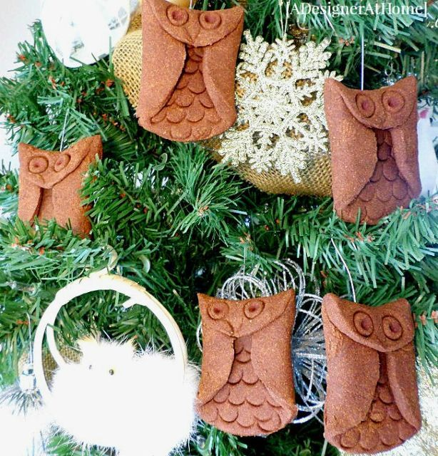 aromatic cinnamon owl ornament tutorial, christmas decorations, how to, seasonal holiday decor