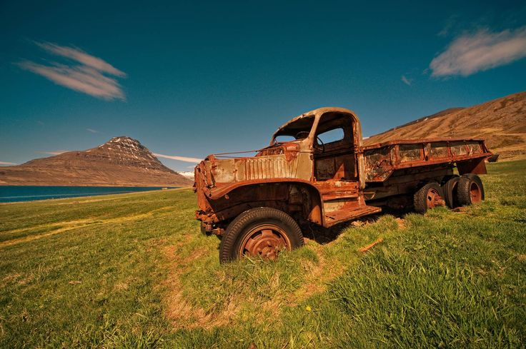 abandoned truck in iceland