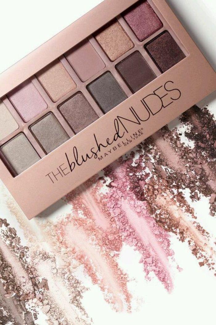 palette nude pour un le maquillage des yeux, maquillage léger et naturel