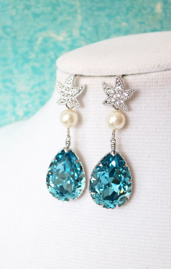 Ocean Inspiration with Blue Bridal Accessories - Beach Wedding Tips