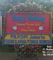 Karangan Bunga Wedding di JL.Pelita ll Medan
