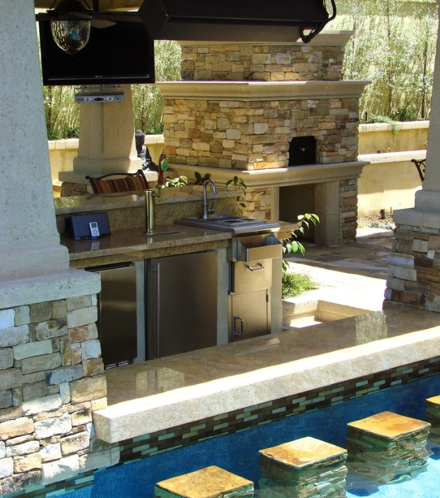 17 best images about pool ideas on pinterest fireplaces - Above ground pool bar ...