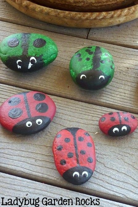 Ladybug rocks for you garden make everyone smile wihen the see them.. You just can not help yourself.