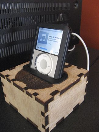 This is a custom Ipod dock, is laser cut out of 1/4