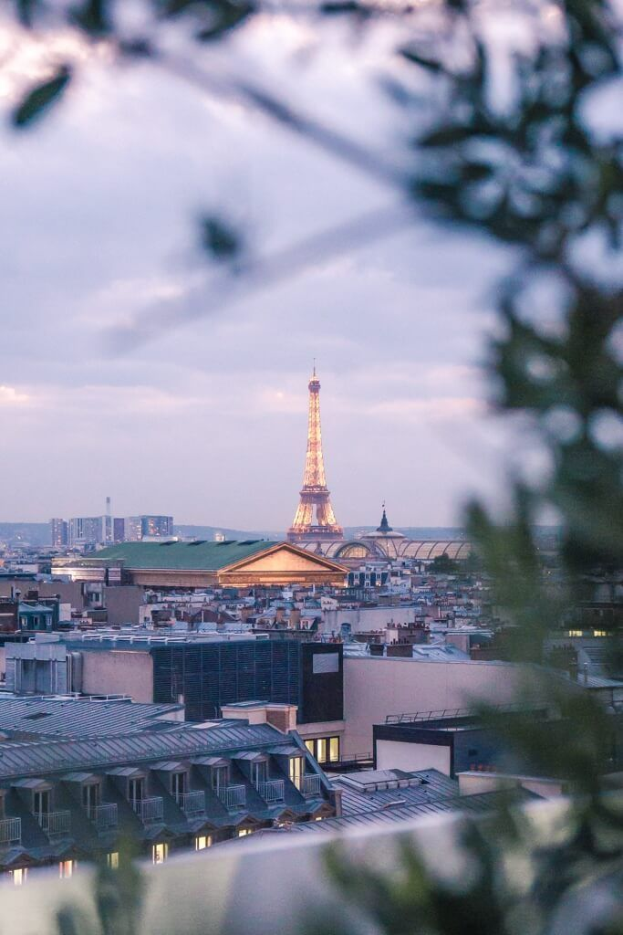 Galeries Lafayette Rooftop Terrace: one of the best panoramic views of Paris, France