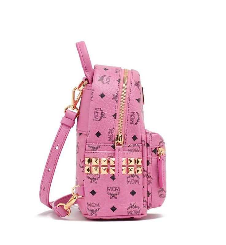 MCM BEBE BOO BACKPACK PINK - MCM-5 #mcm #backpack #pink #bebeboo