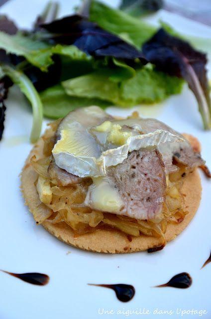 tarte fine, andouille de Vire, marmelade d'oignon,pomme,Jonathan Datin,recette normande,restaurant Edulis,chef normand,régal n°64