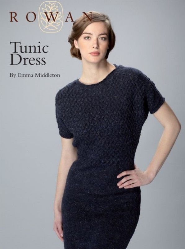 Free tunic dress knitting pattern: download it at Laughing Hens