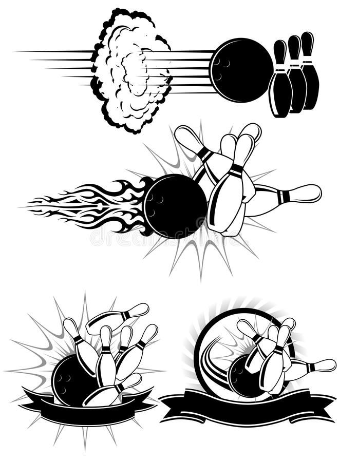 Bowling Strike Black And White Bowling Clipart Styled As Emblems Sponsored Advertisement Sponsored Strike Bowling Strike Retro Wall Art Illustration