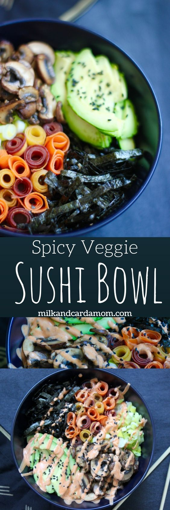 Load up on your veggies with this vegan spicy sushi bowl!