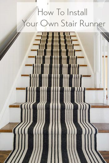 All the details for installing a stair runner and updating the risers and railings.