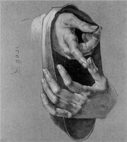 Study of Hands  --  Artist: Albrecht Durer