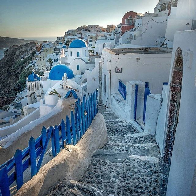 """""""This one just a little bit over one hour before sunset in Oia, Santorini, Greece. Everyone was running towards sunset viewpoint   so many side streets were empty."""" Photo by @daviddurcak   #wonderful_santorini #santorini #great_greece #santoriniisland #santorinigreece #santorinithira #santorinioia #santorin #thira #thirasantorini #oiasantorini #oia #kikladhes #cyclades #greekislands #greekisland #greek_island #greek_islands #caldera #calderasantorini #santorinicaldera #sun #greece #ellada"""