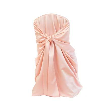 Chair Cover, Tiffany Blush Bag Style | Linen Effects - Minneapolis, MN | Chair cover rentals