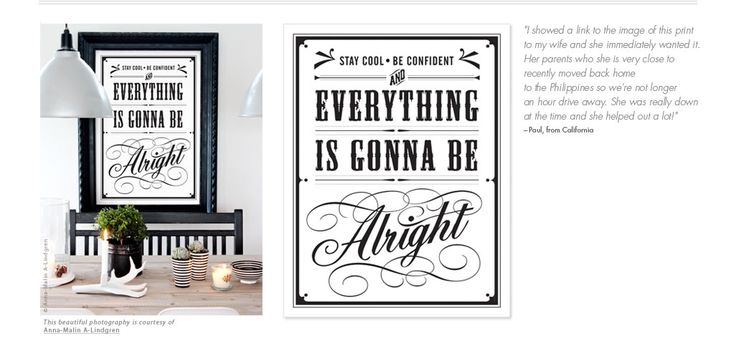 Be cool, be confident. And Everything is gonna be alright by Eva Juliet