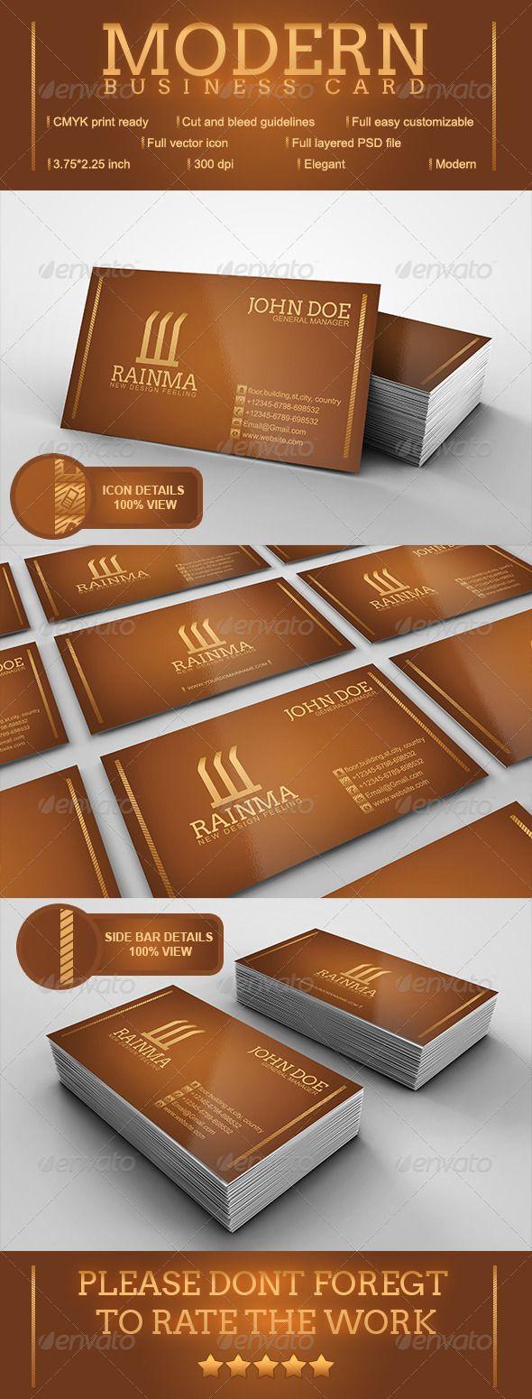 Color printing bu - Modern Business Card