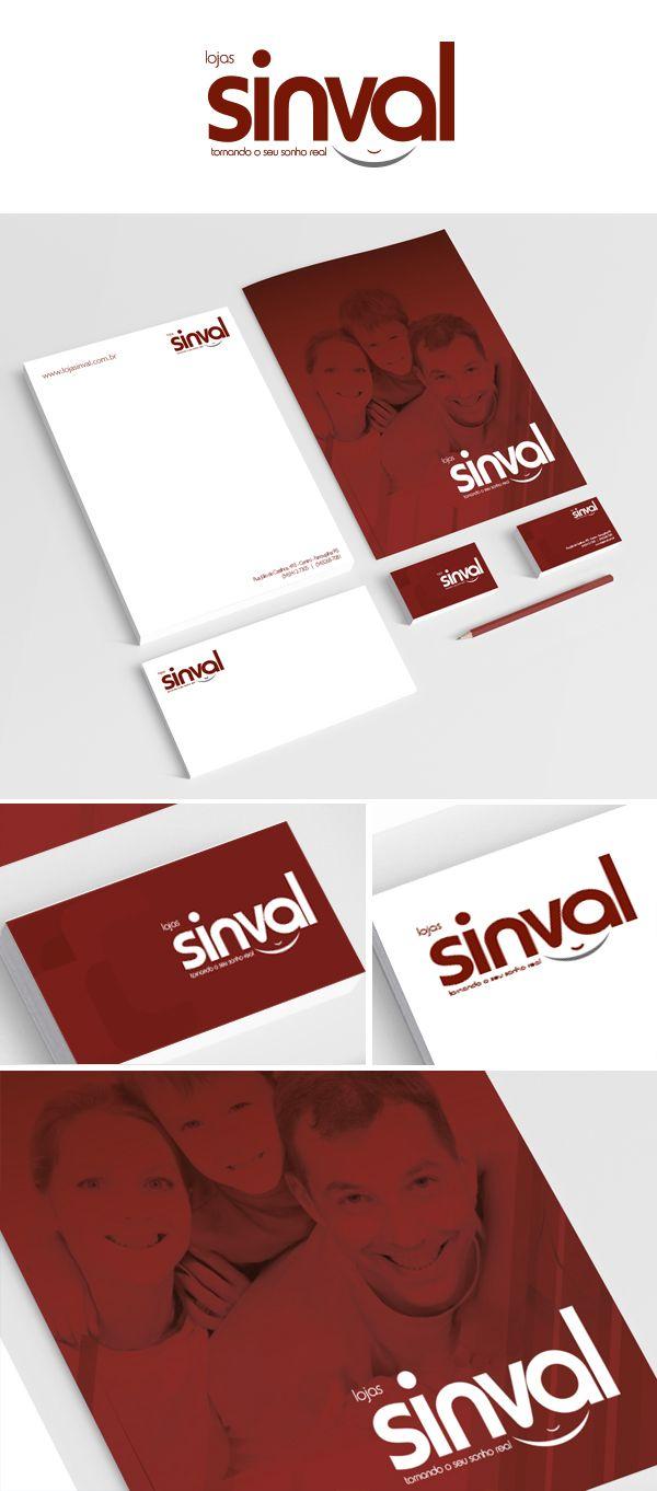 Branding e Material de expediente Lojas Sinval.