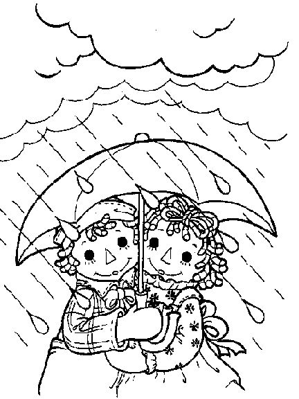 raggedy doll Colouring Pages (page 2)