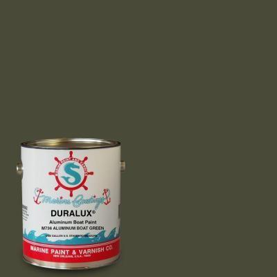 Duralux Marine Paint 1-gal. Aluminum Boat Green Marine Enamel-M736-1 - The Home Depot