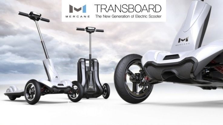 Foldable Electric Scooter Mercanewheels TRANSBOARD Kickstarter