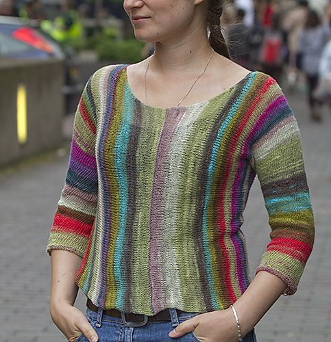 noro...ahh...this is a Berroco pattern called Jujube. Very cute! And yes, added to queue for this spring/summer. I'm thinking something linen!