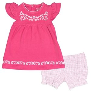 Kushies I Love Spring Dress & Bloomer Set - Fuchsia Solid
