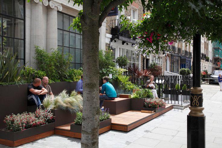 map projects architects / grosvenor estate parklet garden pop-up, belgravia sw1