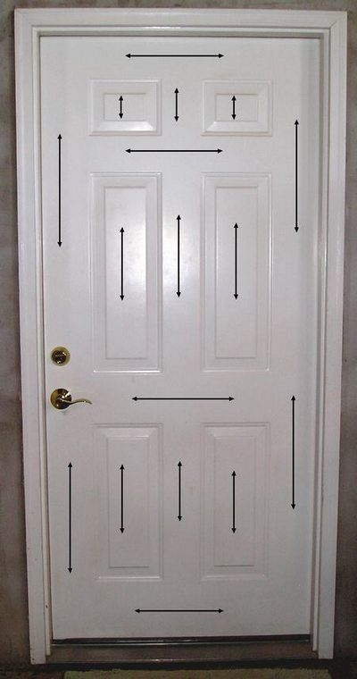 Brushing Direction For Painting a Steel Door  I will get you the paint for your front door.