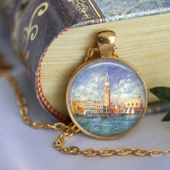 Venice Necklace the Doges Palace Glass by LiteraryArtPrints