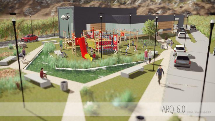 Ante Proyecto: Restaurante Soquito's Ubicación: Chamisero, Chicureo, Colina, R.M. Chile Sistema Constructivo: Acero Hormigón y SIP Superficie construida: 400m2 Terreno: 5.000 m2