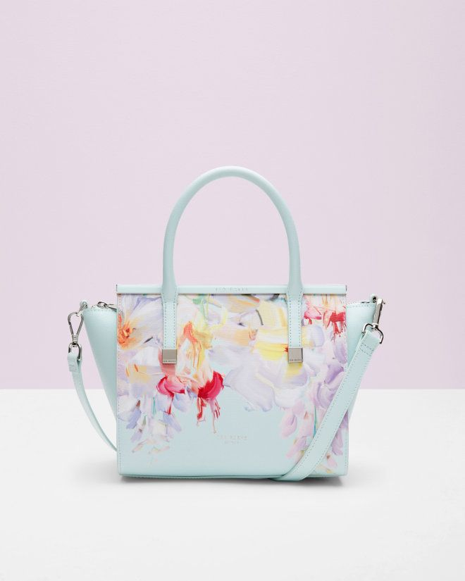 Hanging Gardens crosshatch leather tote bag - Mint | Bags | Ted Baker