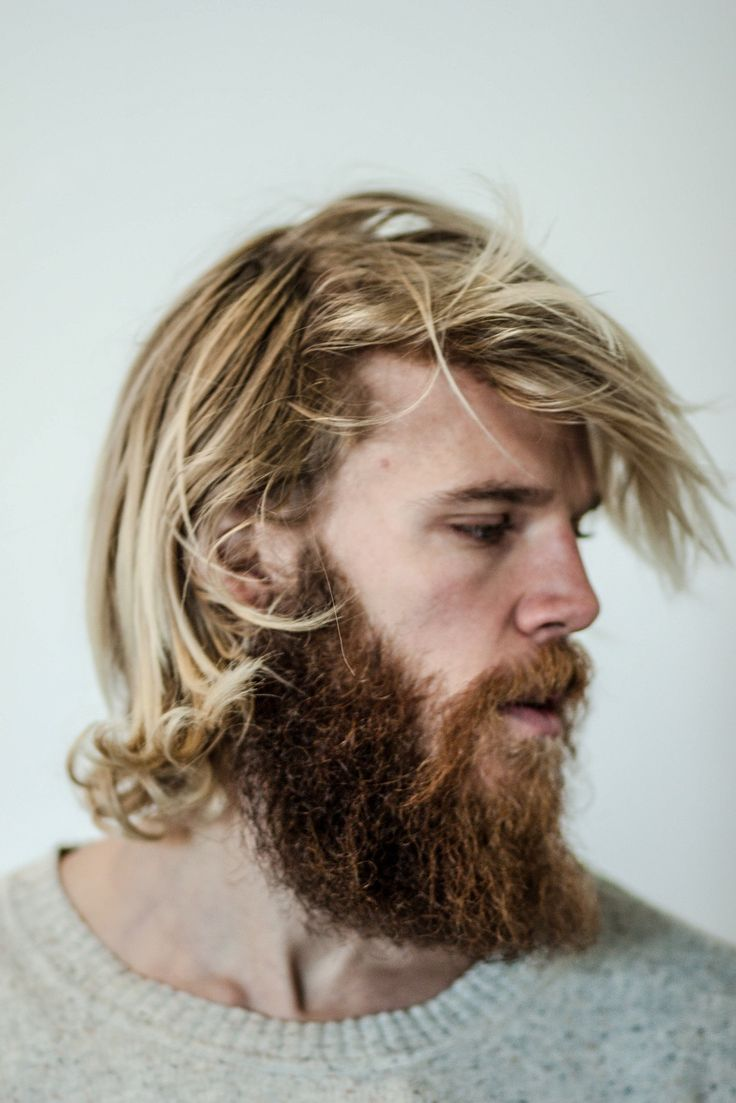 mid-length hair for men // Steffen Noorgard