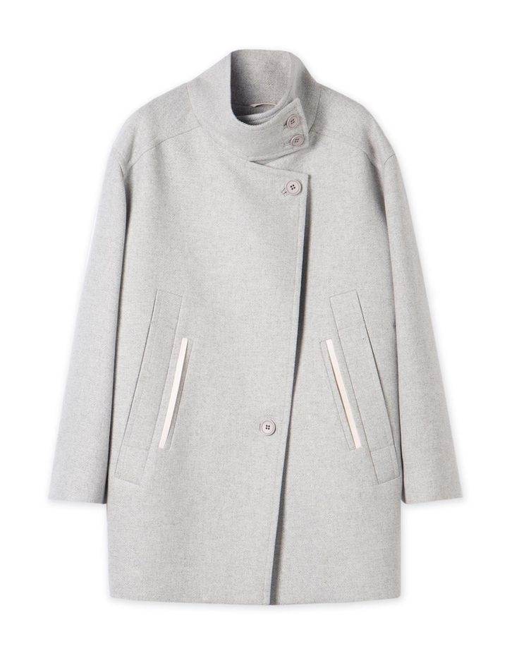 Crossover Front Coat