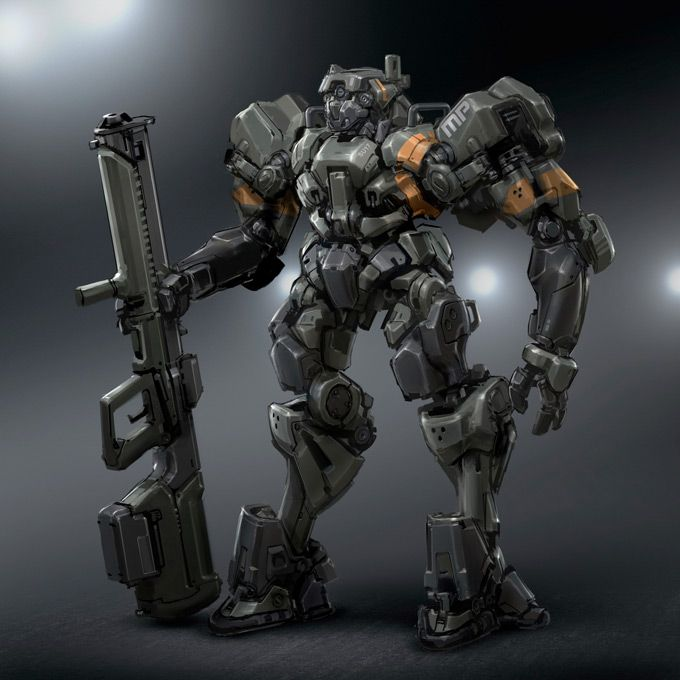 Japanese Sci Fi Art Iso50 Blog: Robot Concept Art By Ben Procter