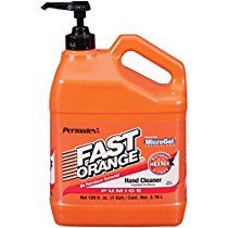 Permatex 25219 Fast Orange Pumice Lotion Hand Cleaner with Pump, 1 Gallon